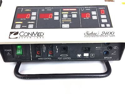 ConMed Sabre 2400 ESU  with Bipolar and Monopolar Foot Switches 60-5600-002