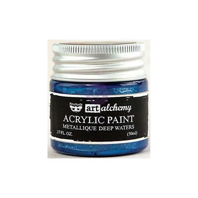 NEW Prima Finnabair Art Alchemy Acrylic Paint - Metallique Deep Waters