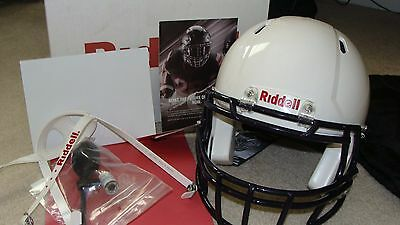 Riddell Speed Football Helmet Size Medium Color white And Face mask Is navy new