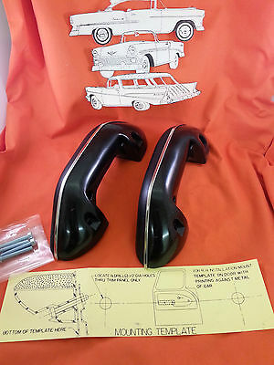 1955 1956 1957 1958 1959 to 1966 Chevy GMC Pickup Black Arm Rest Interior New