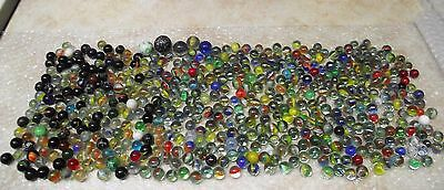 Vtg LOT OF 500+ GLASS MARBLES CAT EYE / SWIRL/ SOLIDS ETC. PLEASE SEE PICS