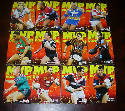 1997 MVP DOMINATORS Full set of 12 Cards~Dynamic Rugby League Cards~NRL CARDS