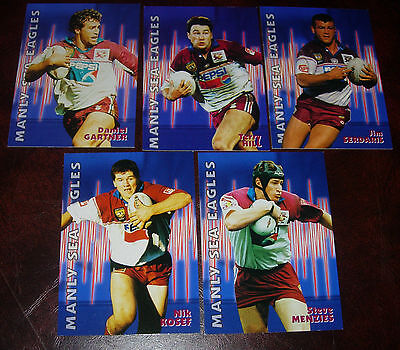 1997 MANLY SEA EAGLES Lot of 5 Cards~Dynamic Rugby League Cards~NRL CARDS