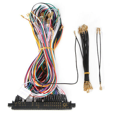 Wiring Harness Cable DIY Parts Assemble Kit para Arcade Jamma Game Cabinet AC709
