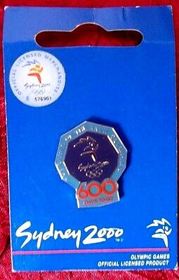 Sydney 2000 Olympic Games Count Down Pin - 600 Days To Go Badge
