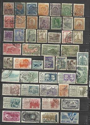 6037-LOTE SELLOS ANTIGUOS SIN TASAR MEXICO,SIN REPETIDOS.OLD STAMPS LOT untaxed