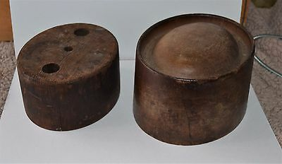VTG Hat Mold Millinery Size 7 ¼  & Crease Block Fedora Trilby