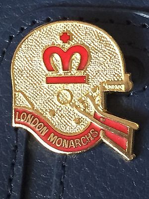 Vintage London Monarchs helmet style metal badge (gold)