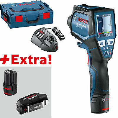 BOSCH Thermo detector GIS 1000 C with 2 x 2,0 Ah Battery,USB Adapter,Charger,L-B