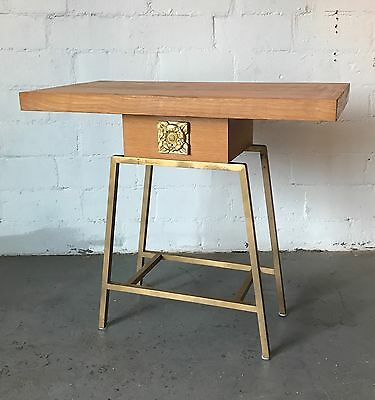 Vintage Mid Century Modern Bronze Console Table