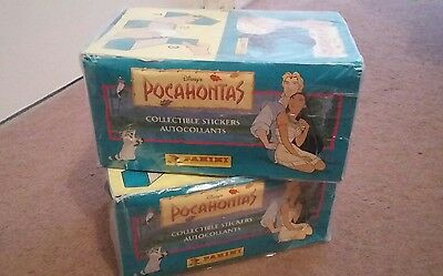 Panini Pocahontas Stickers - FULL BOX, 100 PACKETS *NEW & SEALED*
