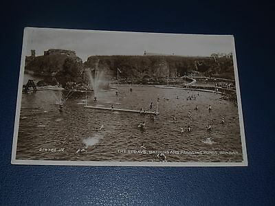 Real Photo Postcard The Sprays, Bathing Pool Dunbar Postmarked 1933