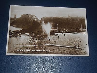 Real Photo Postcard The Swimming Pool Dunbar, Unused