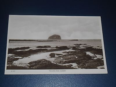 Real Photo Postcard The Bass Rock From Dunbar, Unused
