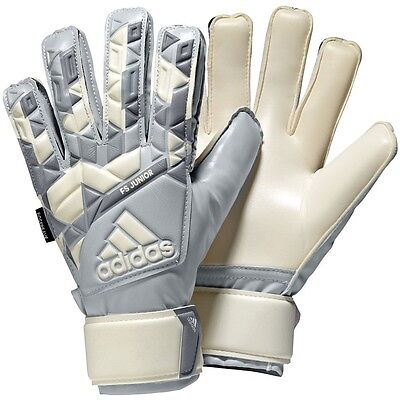 Adidas Youth Ace Fingersave Junior Soccer Goalie Gloves White Camo Print NEW