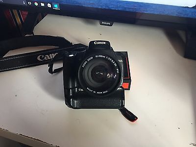 Canon EOS 350D w/ Sigma 18-200mm Lens and Canon BG-E3 Battery Grip