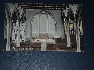 Postcard Inside The Parish Church Dunbar, Unused