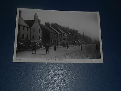 Real Photo Postcard Dunbar High Street