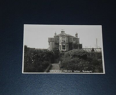 Real Photo Postcard The Edenholme Private Hotel Dunbar, Unused