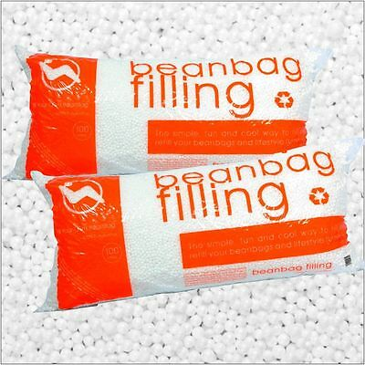 Bean Bag Refill Stuffing Filler Beads 200l Couch Seat Filling 7 Cu Ft 2 Pack