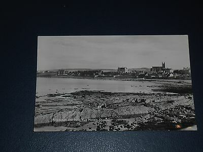 Real Photo Postcard East Beach Showing Roxburgh & Bellevue Hotels Dunbar Unused