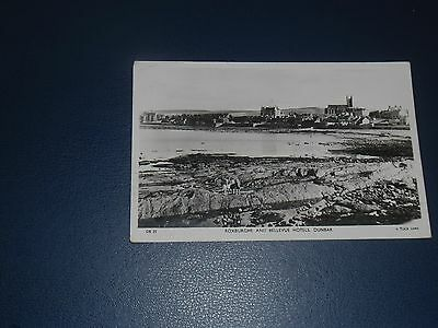 Real Photo Postcard East Beach Showing Roxburghe & Bellevue Hotel Dunbar, 1955