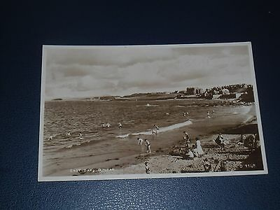 Real Photo Postcard East Beach Dunbar, Unused