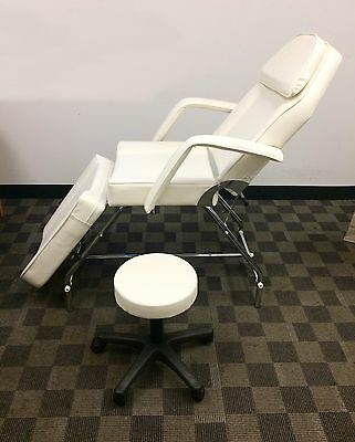 Adjustable Exam Medical Dental Chair And Portable Stool (White) (Brand New)