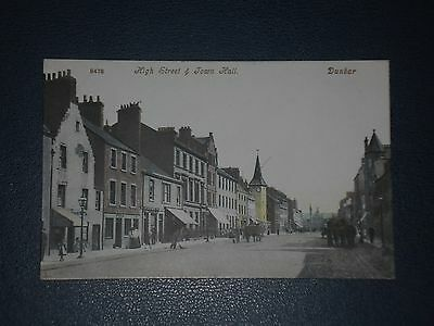 Postcard Dunbar High Street & Town Hall, Unused