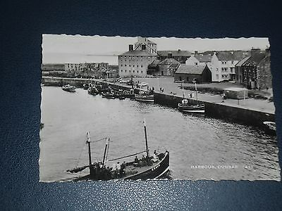 Real Photo Postcard Fishing Boats In The Harbour Dunbar