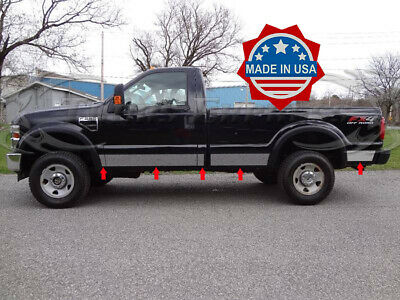 1999-2010 Ford F-250/F350 Regular Cab Long Bed Chrome Rocker Panel Trim 6""
