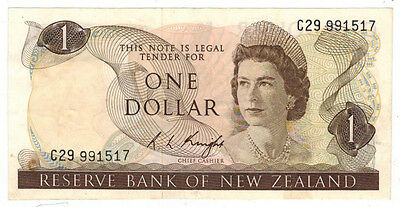 ND (1975-77) New Zealand One Dollar Note, P# 163c
