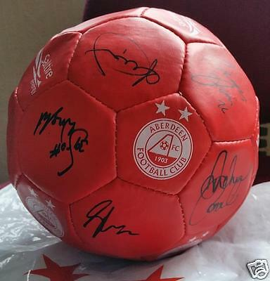 Aberdeen Football Club AFC Signed Football (May swap/ px)