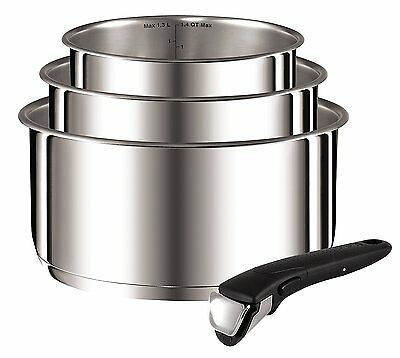 Tefal Ingenio Stainless Steel 4 Piece Set