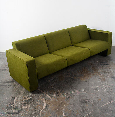 Mid Century Modern Sofa Couch Retro Vintage Green Herman Miller Knoll Danish 70s