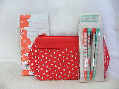 Target Dollar Spot - Stationery Set - Pouch Pencils Paper ~ 2015