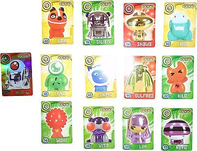 USED Magic Box Int. Power Gogo's Crazy Bones Set Of 13 Plating Cards (D.T)