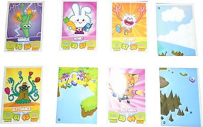 USED Topps Moshi Monsters Mash Up! Set Of 12 Plating Cards (D.T)