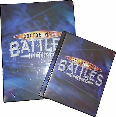 USED Doctor Who Battles In Time Set Of 250+ Trading Cards & 2 Folder (D.T)