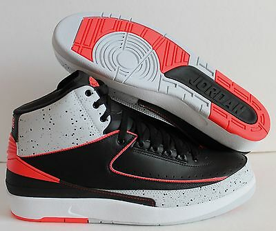 Nike Air Jordan 2 Retro Black-Infrared 23 Sz 11 [385475-023]