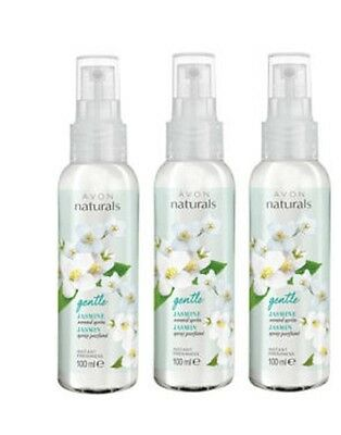 3 X Avon Naturals Fragrance Spritz 100Ml Room Spray Jasmine
