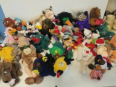 Huge lot 35 Meanies with Tags Infamous & Famous Plush Toys