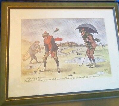 """"""" Rainy Day """" Framed Golf Print Picture By R. Bailey"""