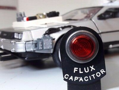 Back to the Future DeLorean Flux Capacitor Dash Instrument LED Warning Light Tag