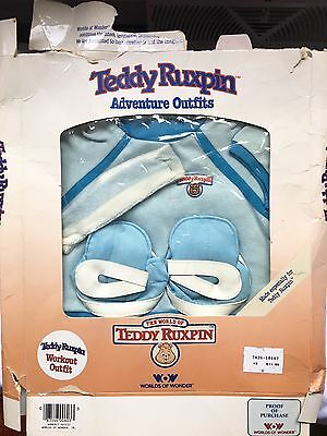Vintage 1985 Teddy Ruxpin Adventure Outfit Workout Outfit Clothes In Box