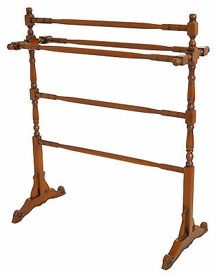New Wooden Towel Rail Blanket Clothes Rack Freestanding