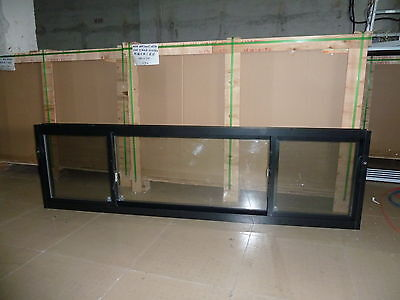 ALUMINIUM SLIDING WINDOW 2400W X 600H  DOUBLE GLAZED NEW Glass Window