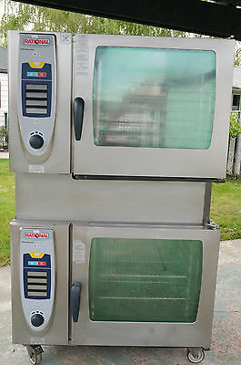 Two Rational Combi Ovens Stacked Scc62G - Clean - Includes Racks