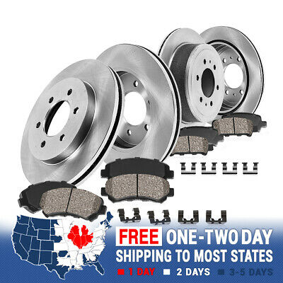 Front Rear Rotors Ceramic Pads For 2001 2002 2003 2004 2005 2006 2007 Sequoia