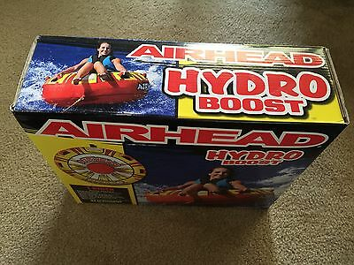"""AIRHEAD HYDRO BOOST Inflatable 54"""" Water Tube 1 Person Rider Boat Round Towable"""